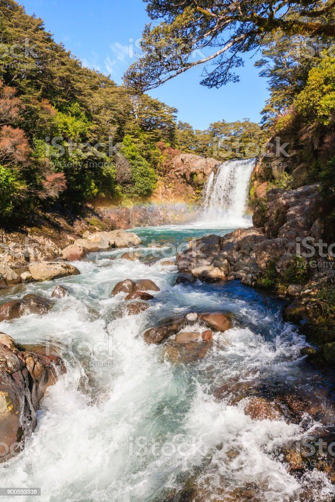 Tongariro National Park New Zealand stock photo