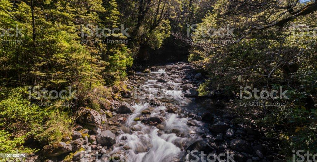 Tongariro National Park - River stock photo