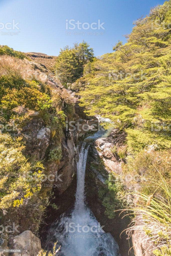 Tongariro National Park - Waterfall stock photo