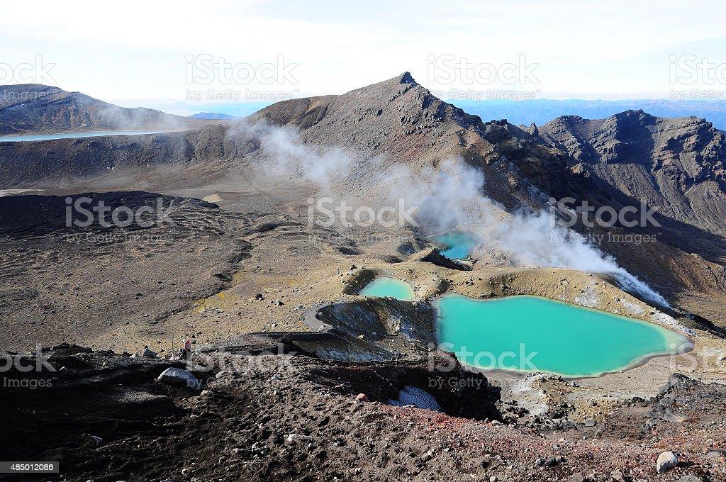 Tongariro National Park,New Zealand stock photo