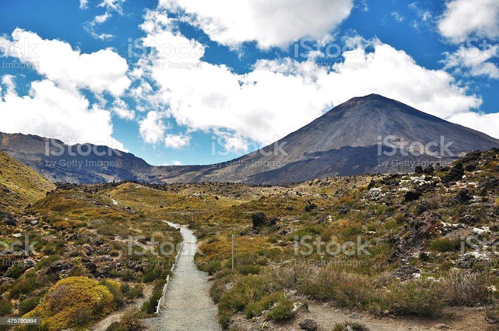 Tongariro Volcano stock photo