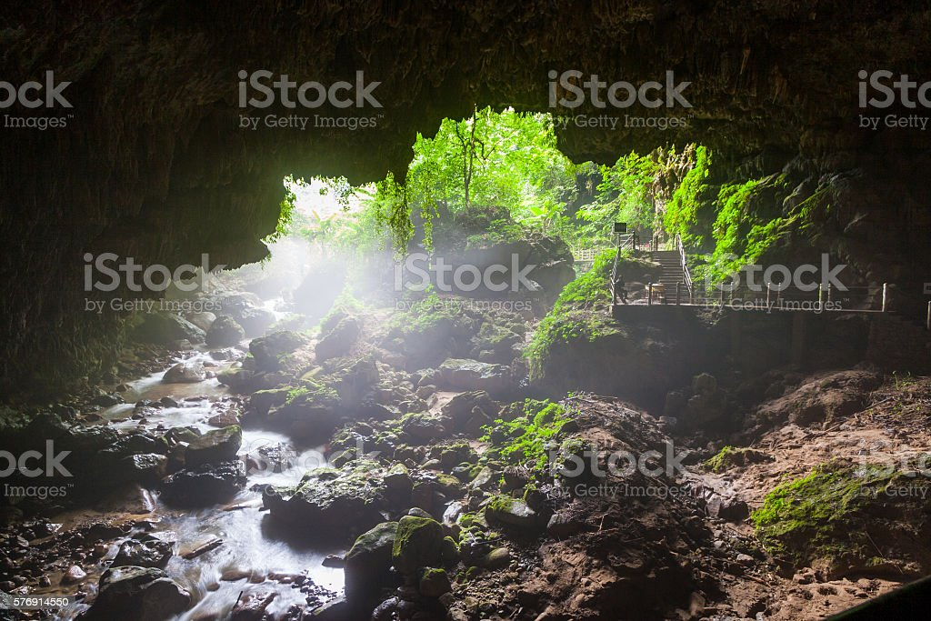 Tongling river  in the primeval forest,baise,guangxi,china stock photo