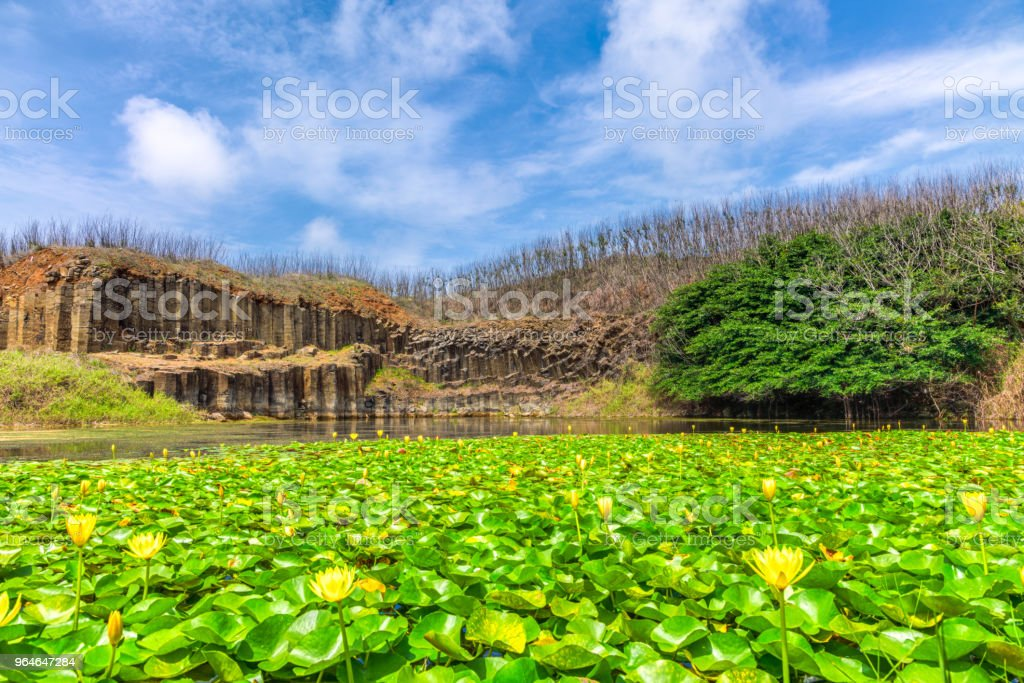 Tongpan Basalt on Penghu islands, Taiwan. royalty-free stock photo