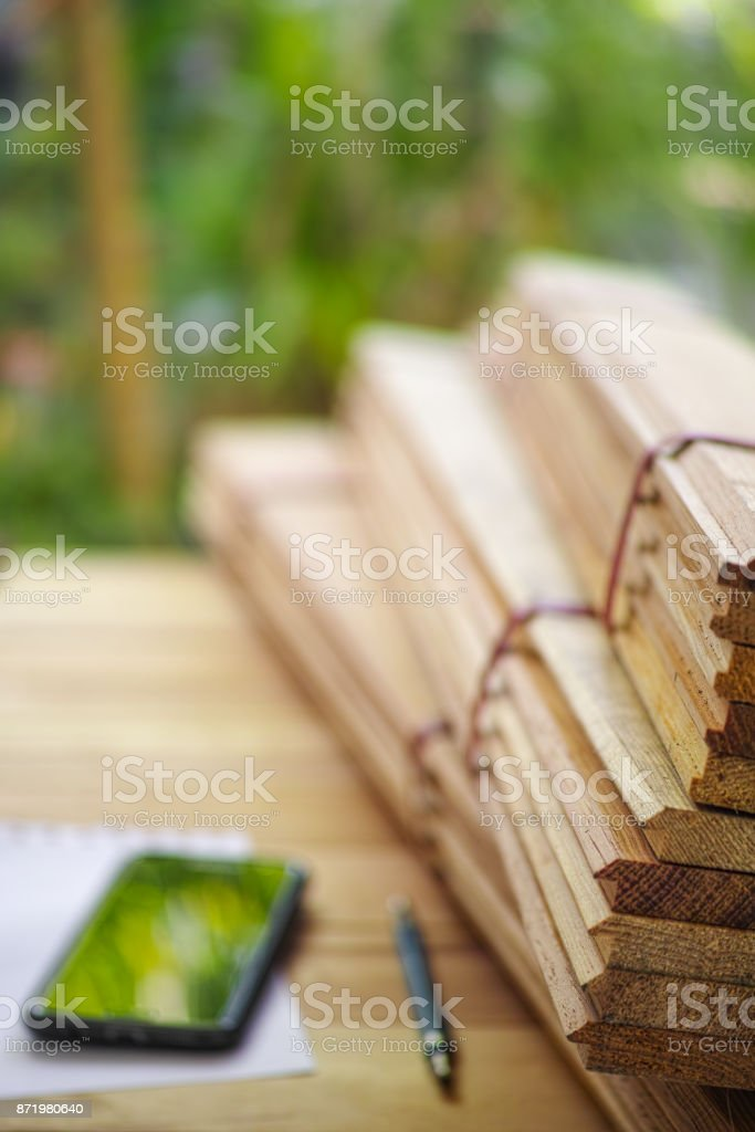 Commercial building material of tongue and groove wood panel boarding...