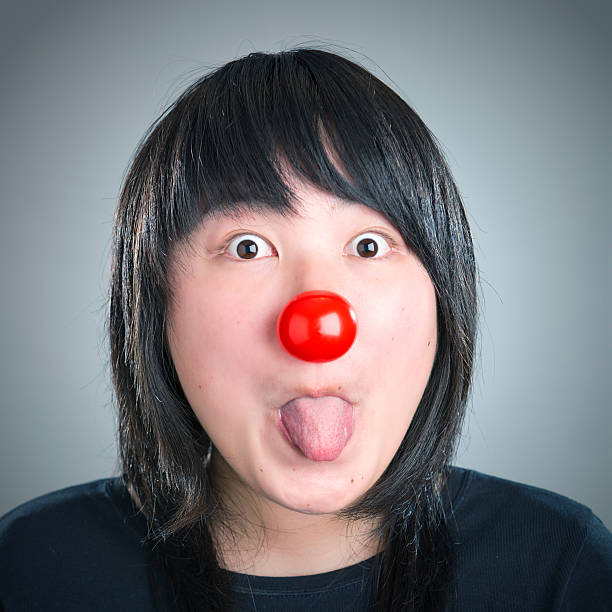 Best Young Woman With Funny Face Mocking Someone Sticking