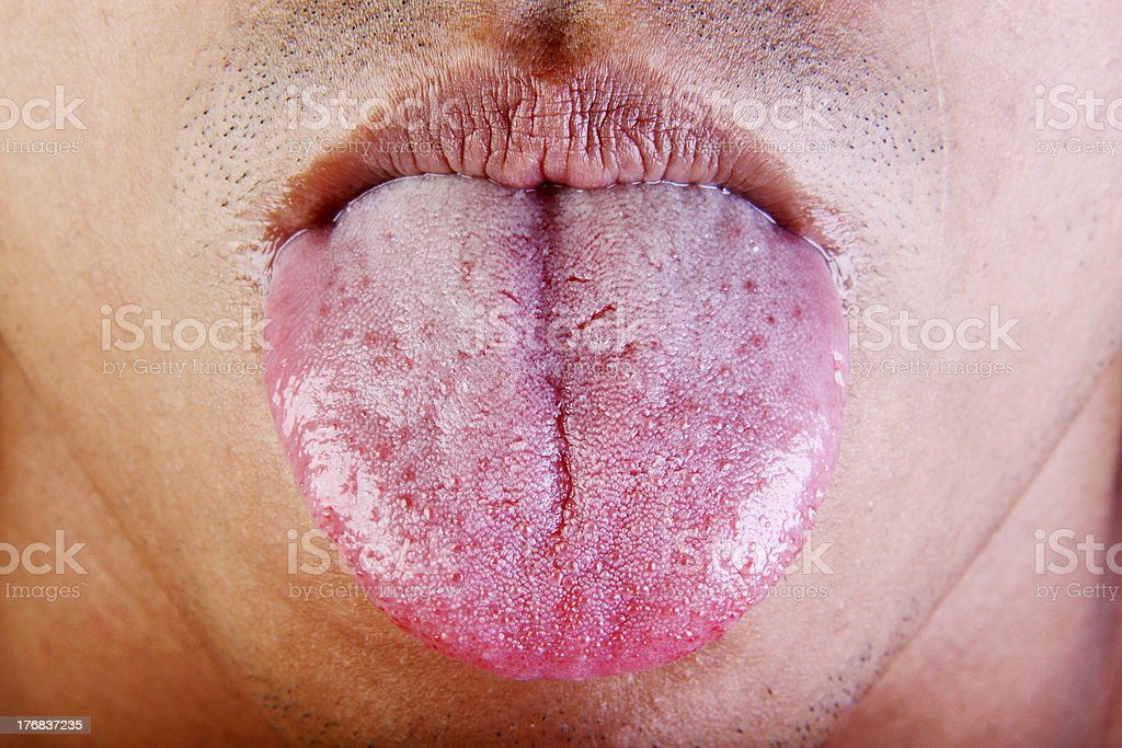tongue stock photo