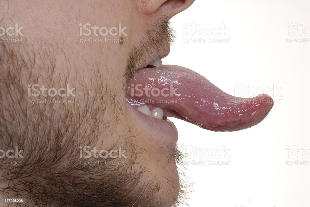 Tongue portrait. stock photo
