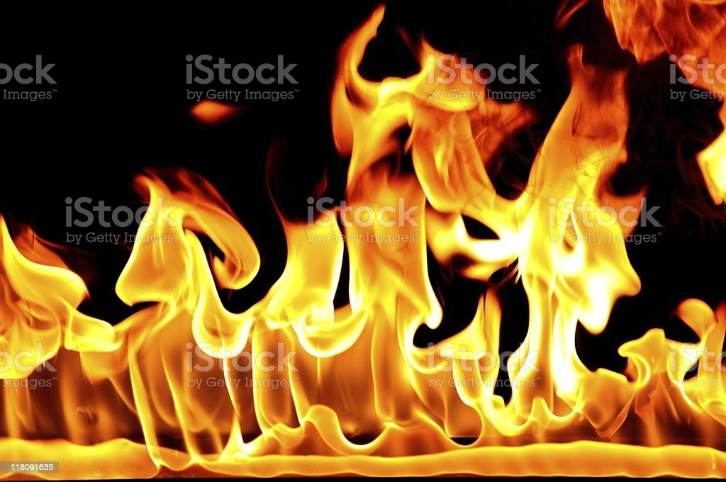 Tongues of flame royalty-free stock photo