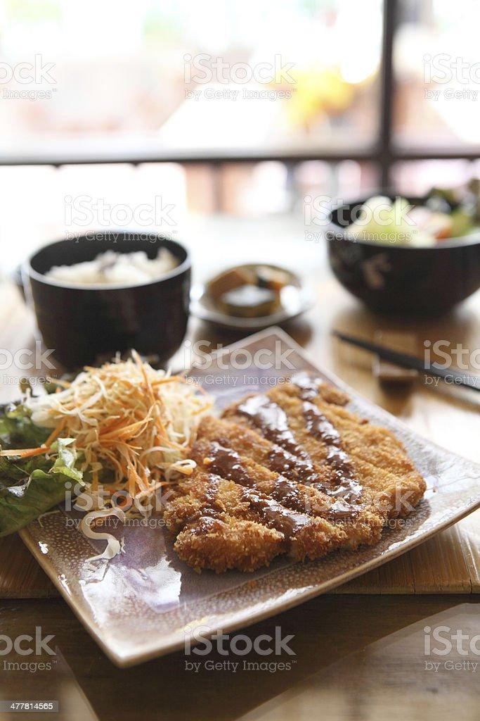 tonkatsu , Pork cutlet royalty-free stock photo
