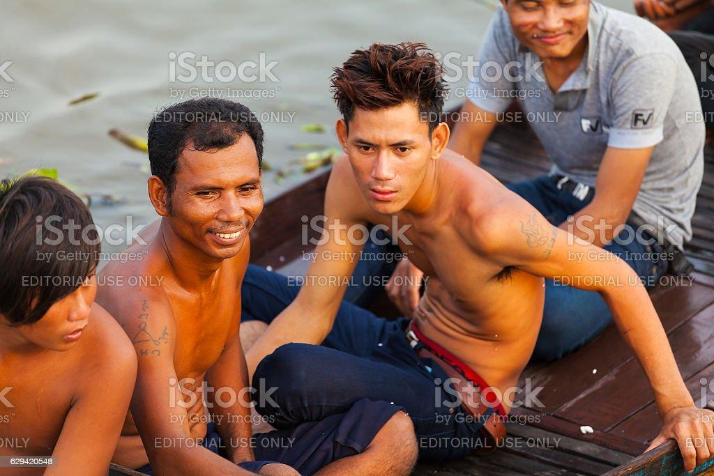 Tonle Sap Lake Siem Reap, Cambodia - OCTOBER 13, 2012 stock photo