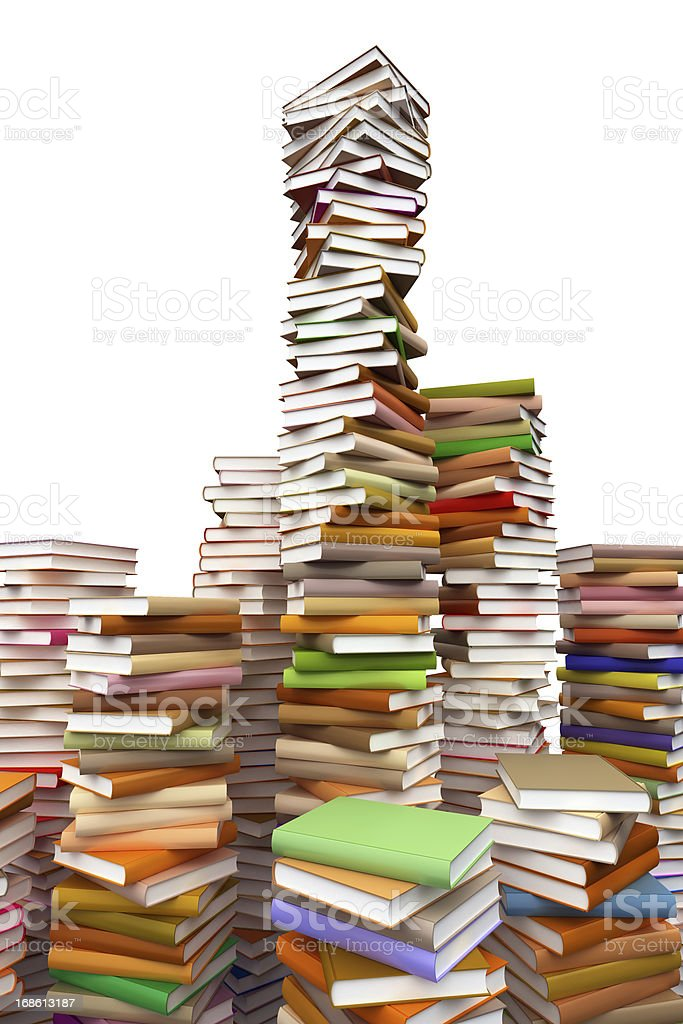 Tons of books everwhere royalty-free stock photo