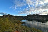 Tonto National Forest - 2019_01.14: Quiet cloudy day at Saguaro Lake