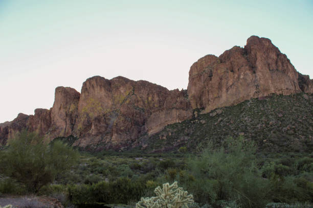 Tonto National Forest cliff views stock photo