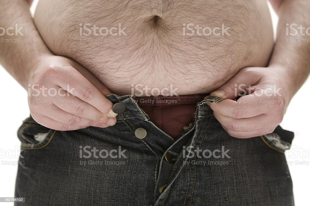 Too Fat for his Pants royalty-free stock photo