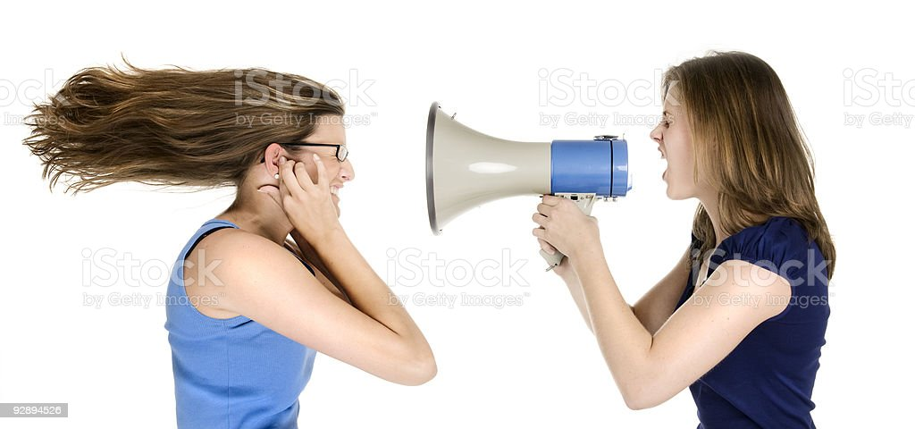 too loud royalty-free stock photo