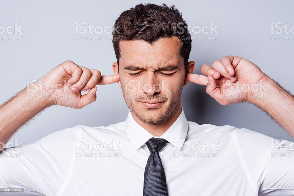 Too loud sound. stock photo
