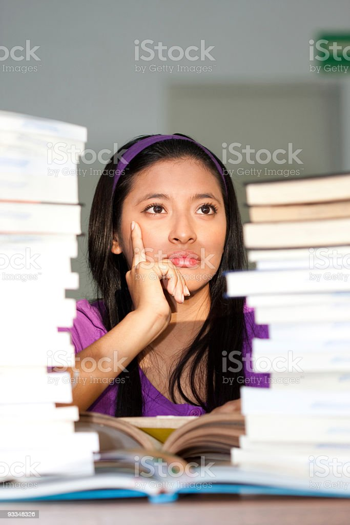 Too many books to read royalty-free stock photo