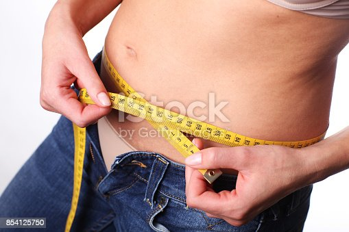 istock Too many calories. Belly is growing. 854125750