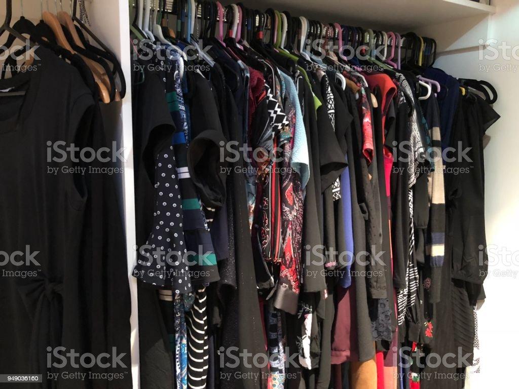 Too many clothes stock photo