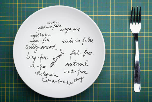 too many dietary restrictions result in an empty plate stock photo