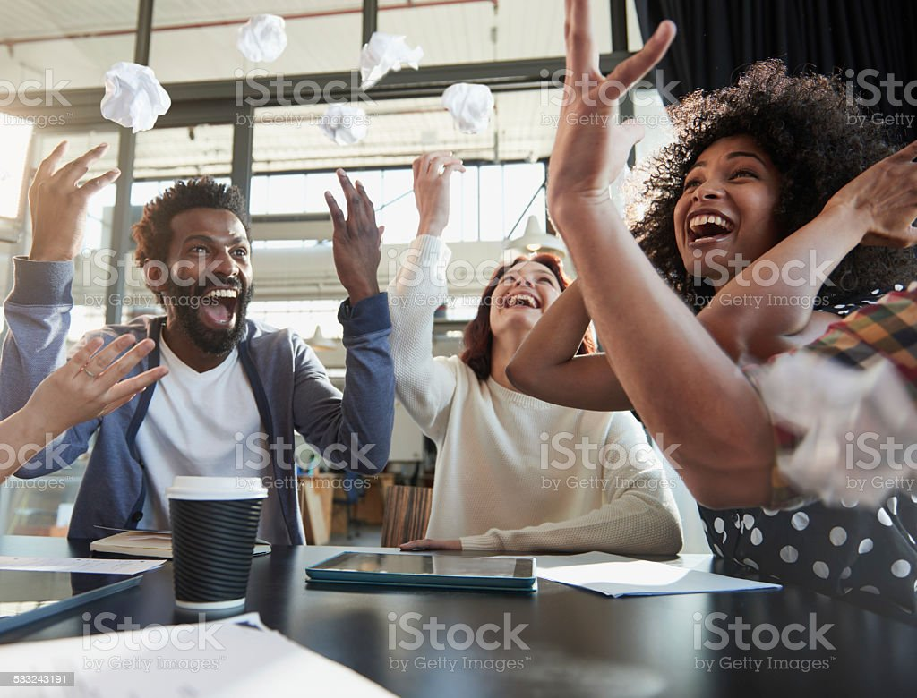 Too many hours of brainstorming? stock photo