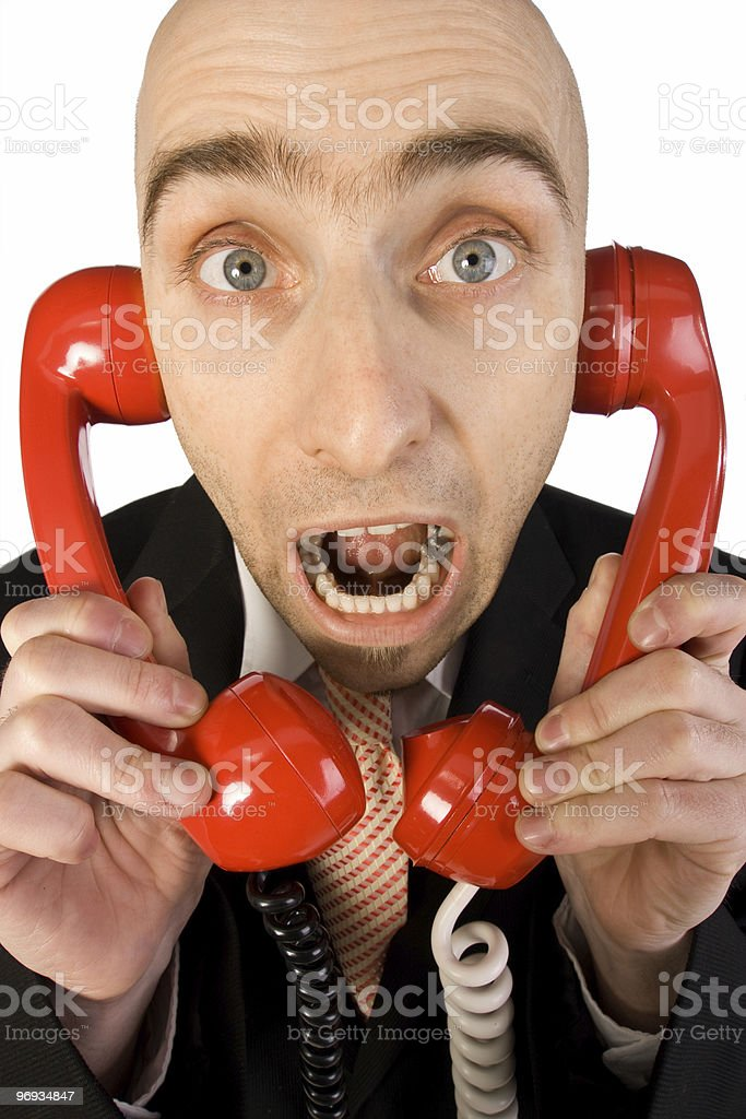 Too Many Phone Calls royalty-free stock photo