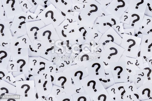 istock Too many question marks 475403463