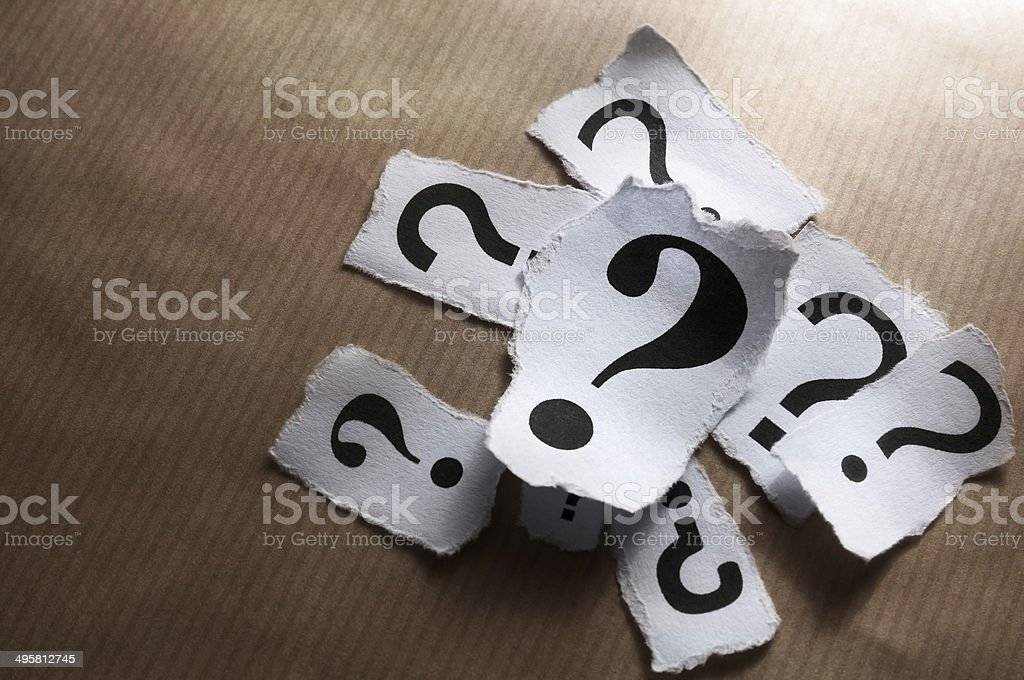 Too many questions stock photo