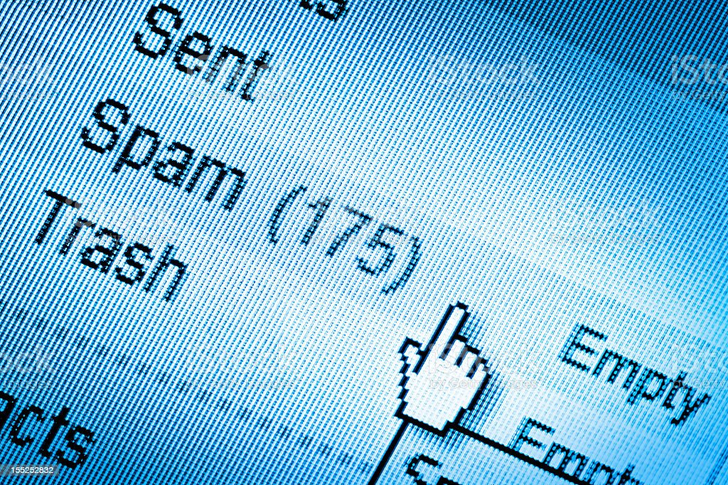 Too many spam messages in email royalty-free stock photo
