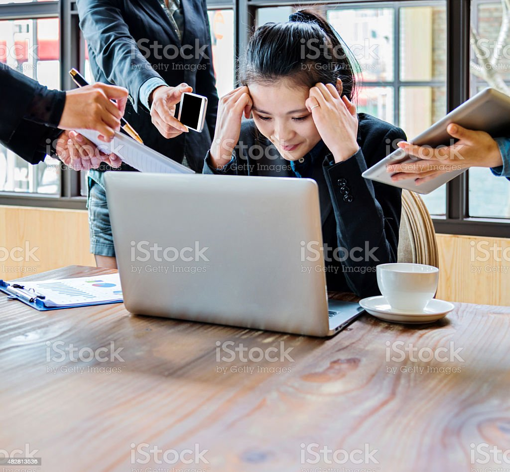 too many tasks stock photo