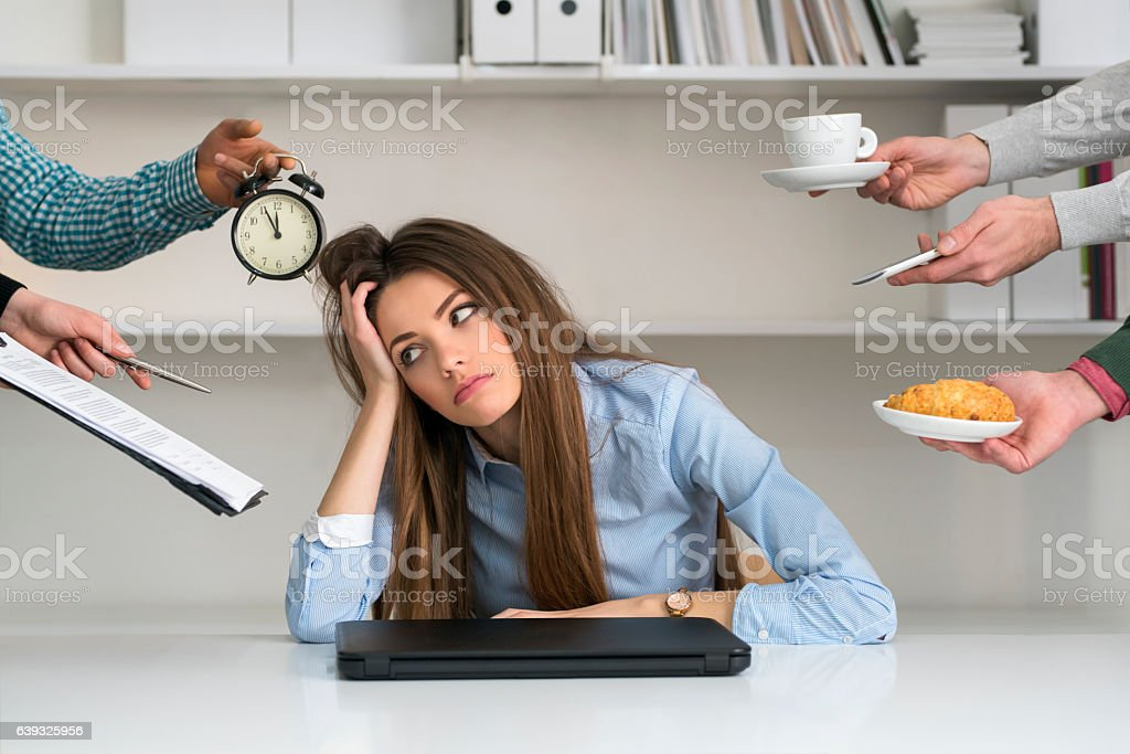 Too Many Things To Do stock photo