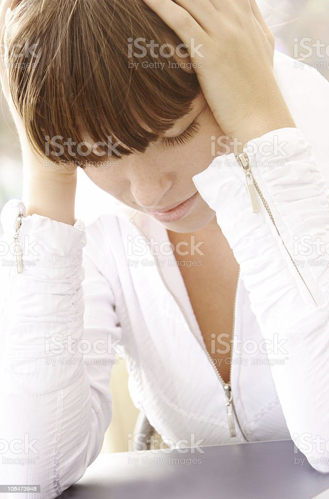 Too many thoughts royalty-free stock photo