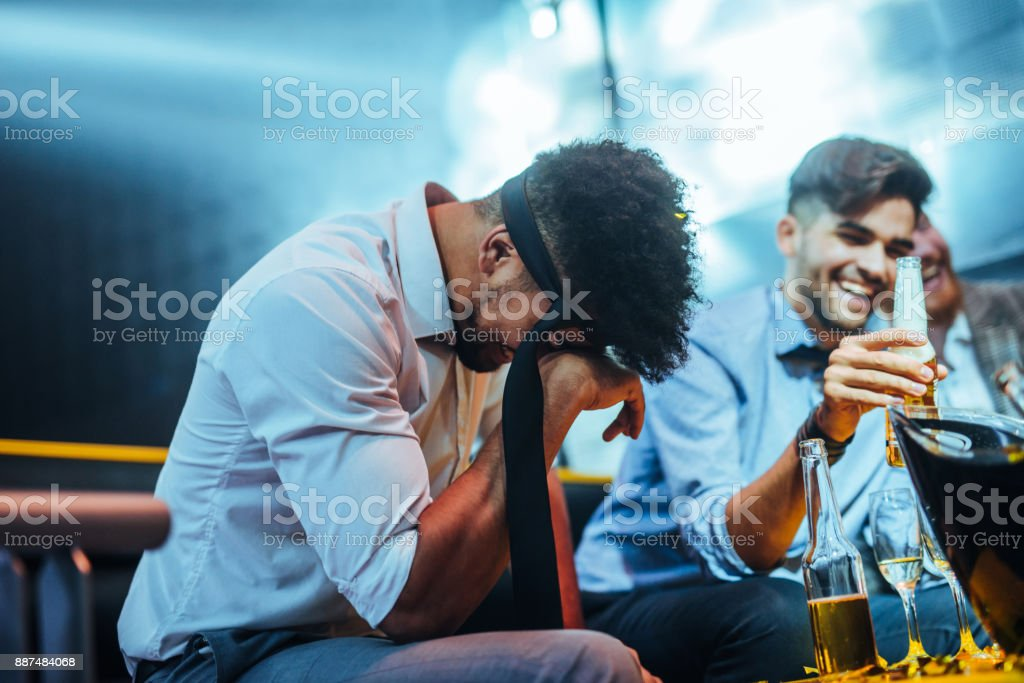 Too much alcohol stock photo