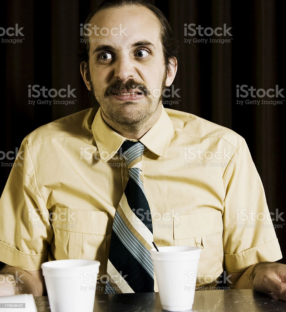 Too much coffee... royalty-free stock photo