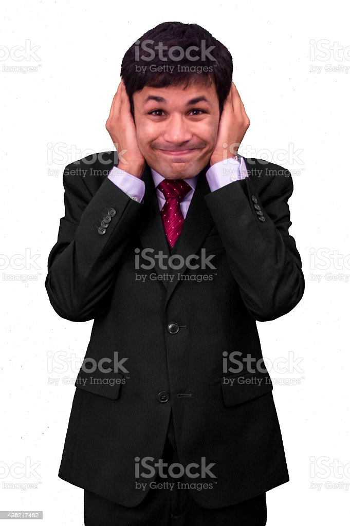 Too much noise! stock photo