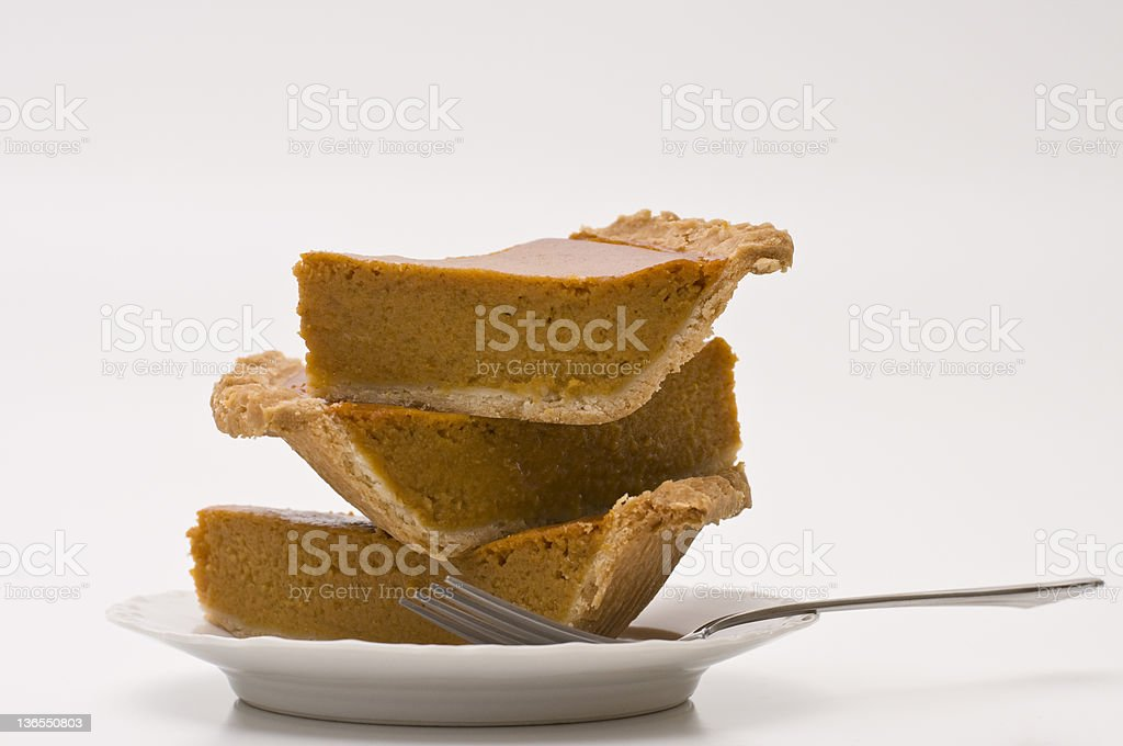 Too Much Pumpkin Pie royalty-free stock photo