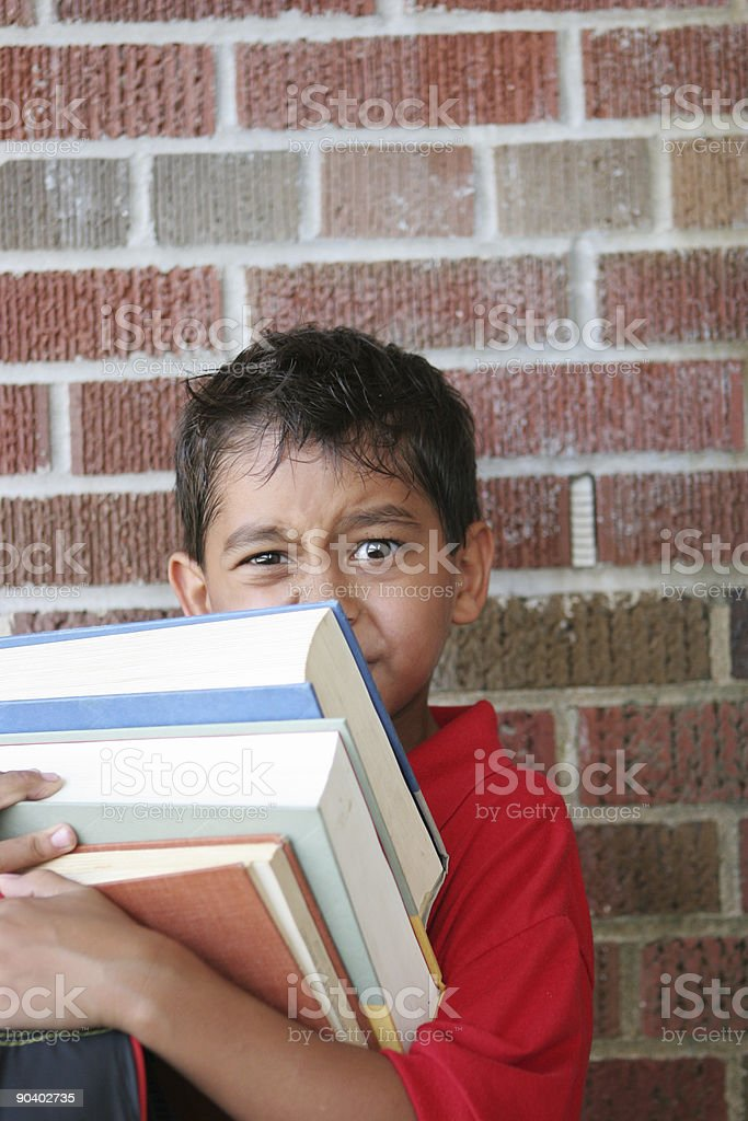 Too much school work royalty-free stock photo