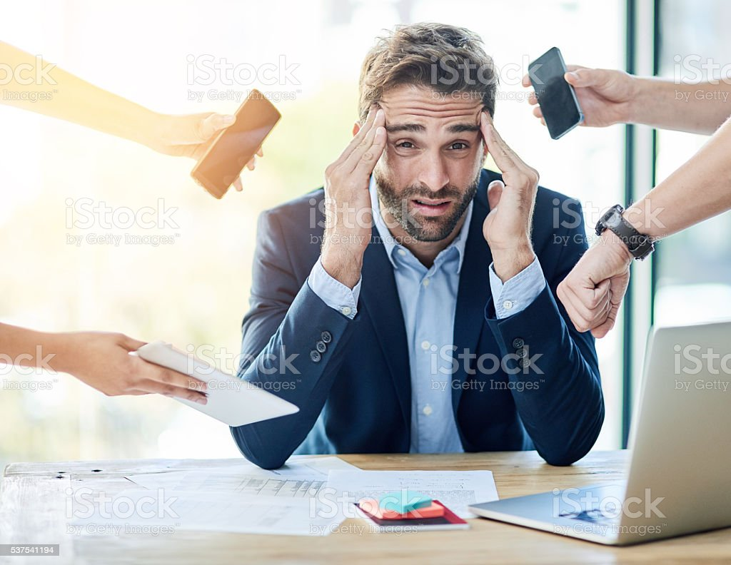 Too much to do, too little time stock photo