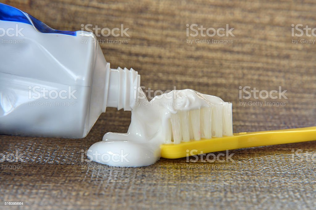 Too Much Toothpaste stock photo