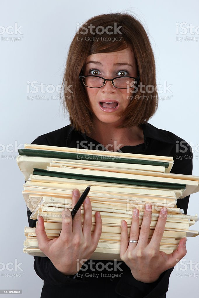 Too much work royalty-free stock photo