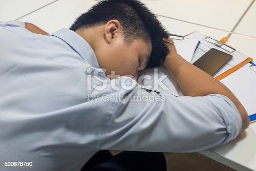 istock Too much work to deal with make the man exhausted 520876750