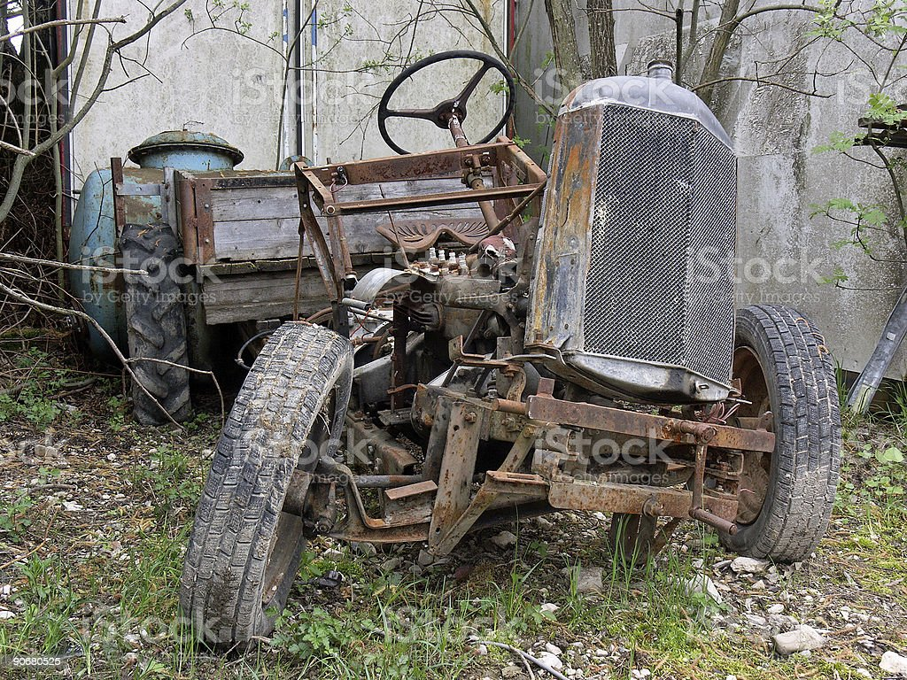 Too old tractor royalty-free stock photo