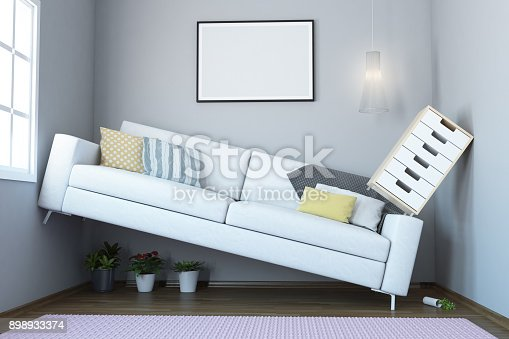 istock Too Small Living Room Interior 898933374