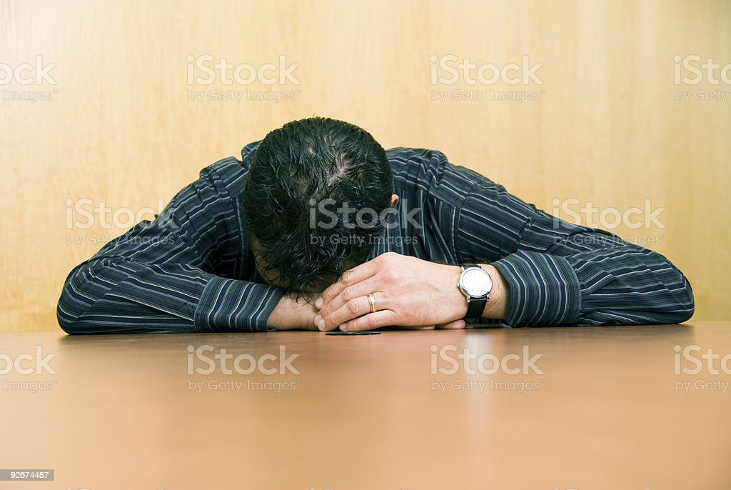 Too tired royalty-free stock photo