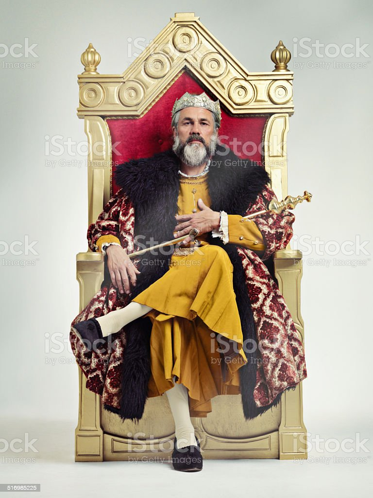 I took the throne peacefully...True Story.. stock photo