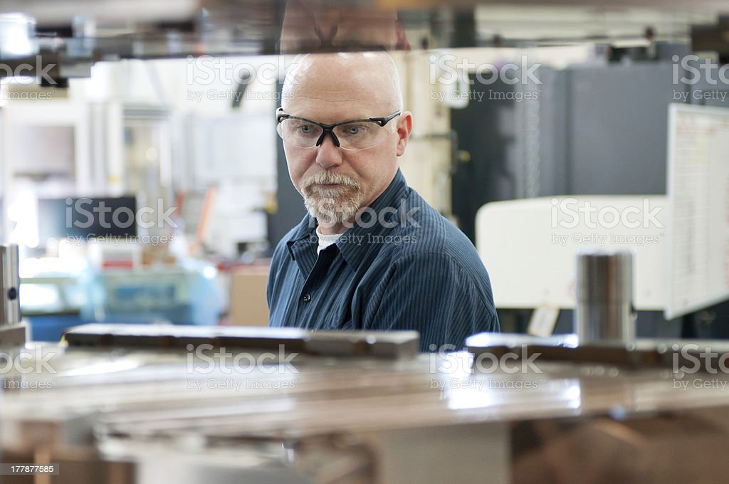 Tool and Die maker. stock photo