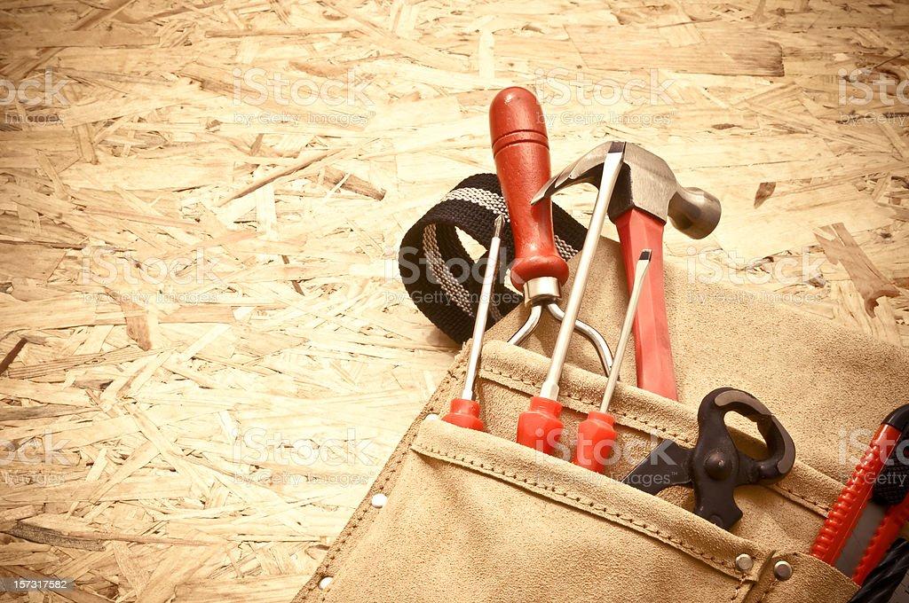 Tool Belt on press board - Royalty-free Belt Stock Photo