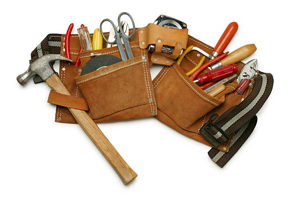 tool belt - tool belt stock photos and pictures