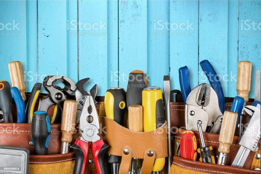 Tool belt. stock photo
