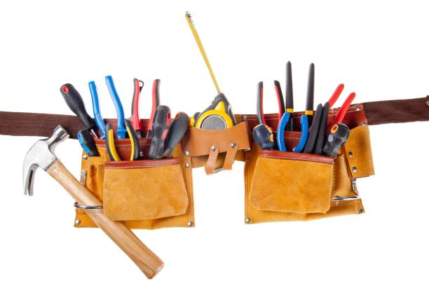 tool belt. - tool belt stock photos and pictures